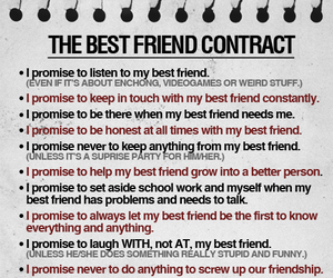 best friends, friendship, and list image