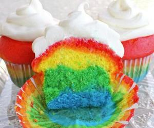 color, cupcake, and green image