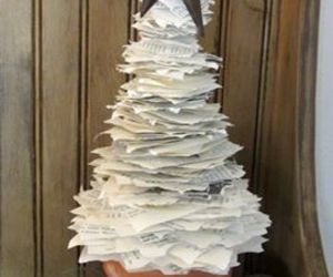 christmas tree, diy, and paper christmas tree image