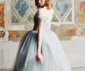 ballgown, blue, and bridal image