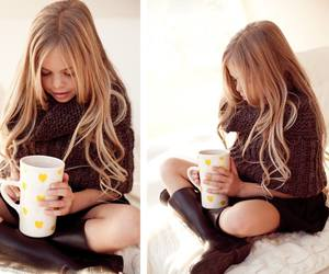 blond, boots, and girl image