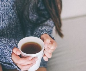 tea, sweater, and winter image