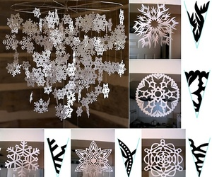 diy, snow, and snowflakes image