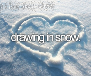 snow, winter, and drawing image