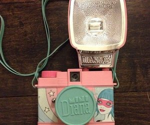camera, pink, and cute image