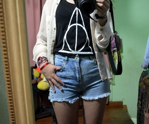 girl, harry potter, and jeans image