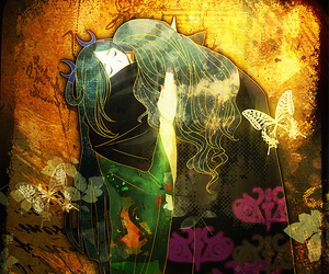 anime, art, and butterfly image