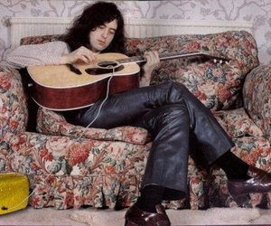 jimmy page, led zeppelin, and music image