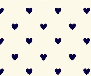 background, Bleu, and hearts image