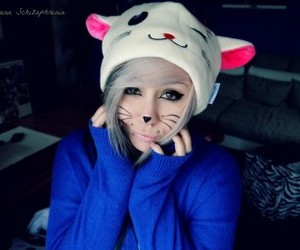 cute, emo, and cat image