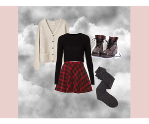 boots, outfit, and plaid image