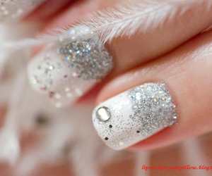glitter, nails, and winter image