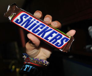 snickers, chocolate, and photography image