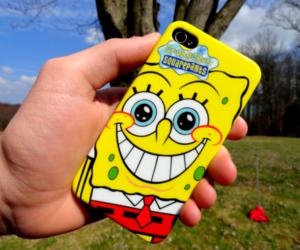 spongebob, sponge bob, and iphone image