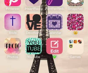 app, eiffel, and screen image