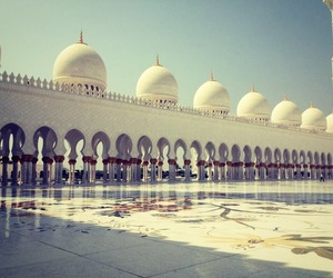 abu dhabi, mosque, and summer image