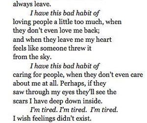 quote, sad, and habits image