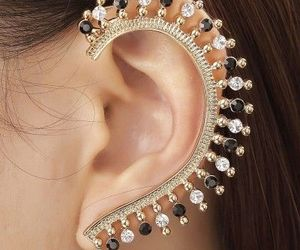 beautiful, ear cuff, and acessories image
