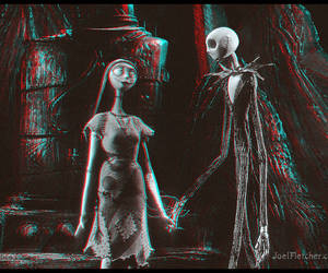 sally, jack, and tim burton image