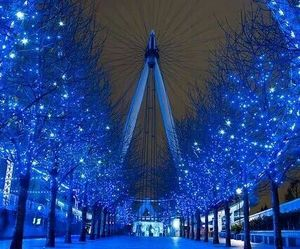 london, blue, and light image