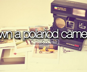 camera, polaroid, and bucketlist image