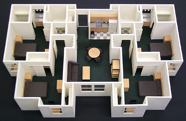 Interior Scale Model Howard Architectural Models Callaway Dorms