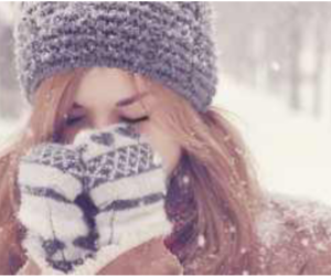 beanie, girl, and snow image