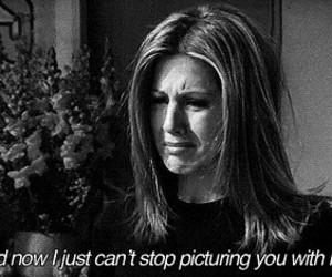 friends, sad, and Jennifer Aniston image