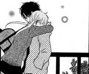 couple, hug, and manga image