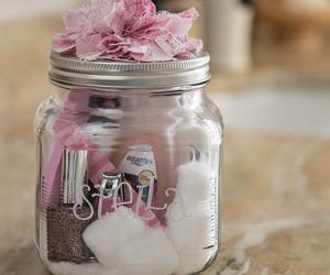 gift, pink, and diy image