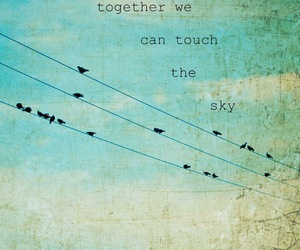 bird, sky, and quote image