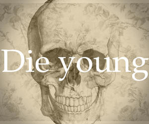 caveiras, die young, and skull image