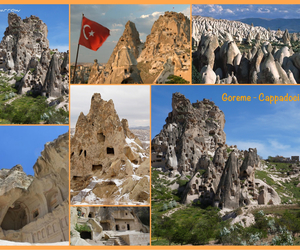 cappadocia, flag, and scenery image