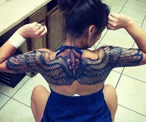 tattoo, wings, and ink image