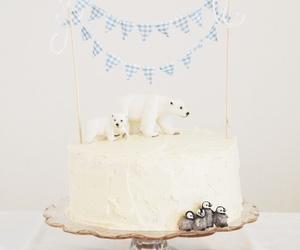 cake, ice bear, and penguin image