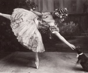ballet, cat, and dance image