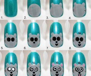 nails, tutorial, and animal image