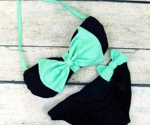 bikini, summer, and black image