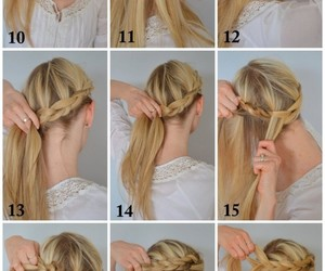 braid, step-by-step, and hairstyle image