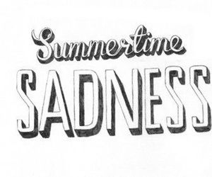 lana del rey, summertime sadness, and sadness image