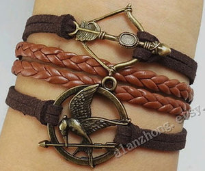hunger games, hipster jewelry, and bird bracelet image