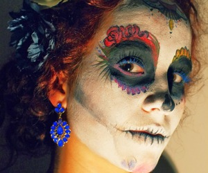 Halloween, sugar skulls, and mexican image
