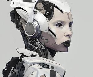 concept art, mecha, and scifi image