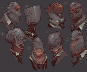 concept art, creatures, and scifi image
