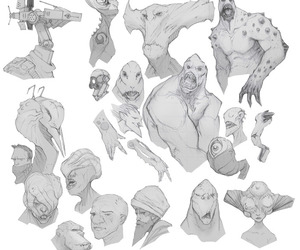 characters, concept art, and creatures image