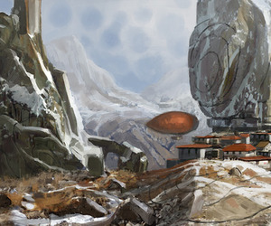 concept art, environment, and fantasy image