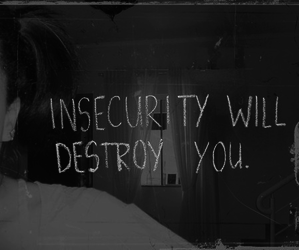 insecurity, quote, and destroy image