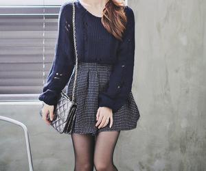 kfashion, korean fashion, and blue image