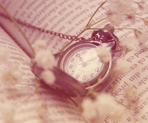clock, time, and book image