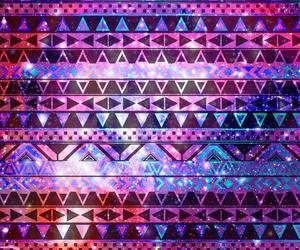 wallpaper, galaxy, and aztec image